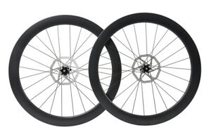 Disc brake Carbon Wheels Rotors Clincher Tubeless Road Bicycle Rim 700C 55mm $373.00