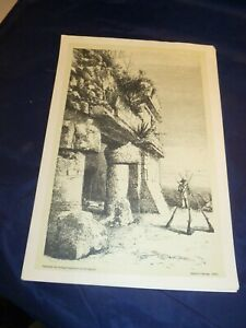Set of 5 Vintage Lithographs Desire Charnay 1882 Ethnographical $35.00