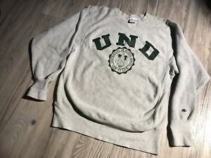 💡Rare Vintage University North Dakota UND Sweatshirt USA White 1883 LUX ET LEX