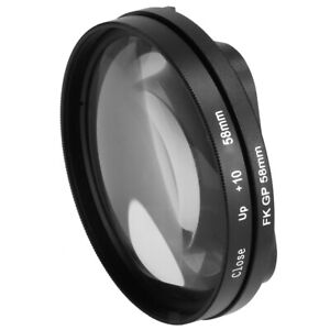 58mm Close up Lens 10X Macro+Lens Adapter Ring for GoPro Hero 5 Housing Case