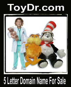 Toy Dr .com  Domain Name for Sale Fix Kids Toys Teddy Bear Army Gifts URL