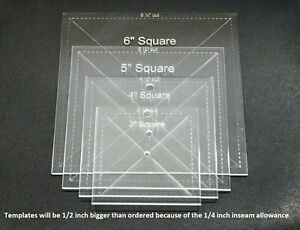 Acrylic Square Quilting Template Choice of Sizes $8.75