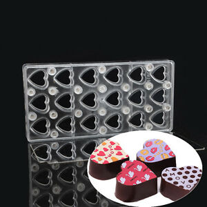 Heart DIY Chocolate Transfer Sheet Custom Molds Magnetic Polycarbonate Mould