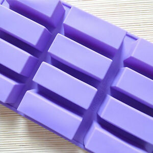 12 Cavities Rectangle Soap molds Silicone Soap Mold DIY handmade soap mould $9.00