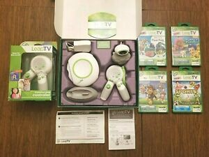 LeapFrog Leap TV Educational Gaming System w 2 Controllers + 4 Games Paw Patrol