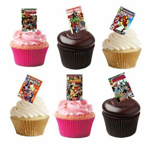 20 Stand Up Retro Marvel Avengers Superhero Comic Book Cover Edible Wafer Paper GBP 1.99