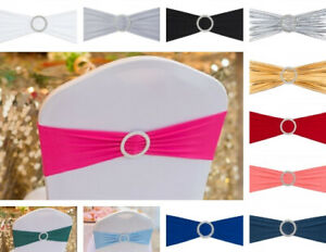 Bulk sale - 1050100400 pcs Stretch Chair Sash With Round Buckle Wedding Event