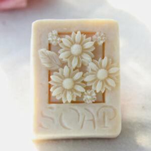 Silicone Mold Soap Craft Chrysanthemum Flower Rectangle Mold for Candle Wax $10.99