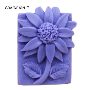 Sunflower Mold DIY Silicone Soap Mold Candle Molds Resin Wax Rectangle Mold $10.99