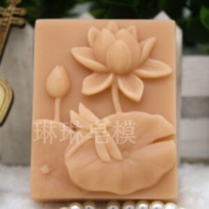 Lotus Flower Mold DIY Silicone Soap Mold Candle Molds Resin Wax Rectangle Mold $9.99