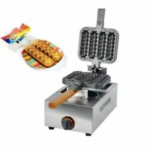 New Commercial Non-stick LPG Gas Lolly Waffle Maker Baking Machine 4pcstime