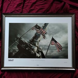 ULTRA RARE The Monument Lithograph Limited Edition 292300 Framed Fallout 3 4 76