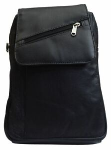 Women#x27;s Genuine Leather Small Backpack Causal Design Black Backpack Ladies