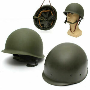 7PCS WWII US Military Steel ABS M1 Helmet Cosplay Outdoor Army Tactical CS Game