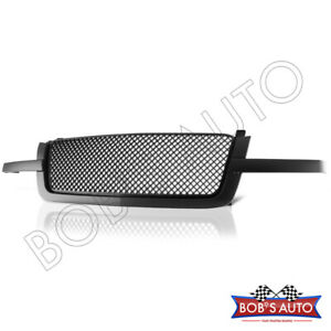 For 03-05 Chevy Silverado Avalanche Black DIAMOND MESH Front Hood Grille Molding