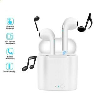 New Bluetooth Wireless Earbuds i7s TWS Two In Ear Earphones with Charger Box