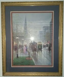 G. Harvey Park Street Church Boston print  Signed and Numbered 8871950