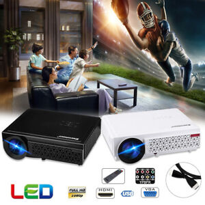 "Excelvan Home Theater Projector 5.8"" LED LCD 5000 Lumen 1280*800 Support 1080P"