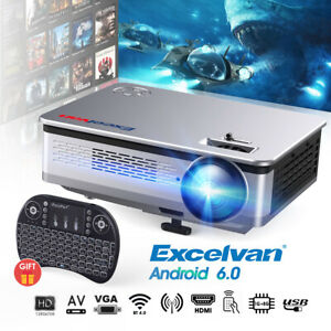 "Excelvan HT60 Home Projector 1080P 5.8"" LED Lamp for Home Cinema Theater Video"