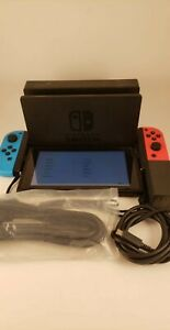 Nintendo Switch Neon Blue and Red Joy Home Console *Tested*