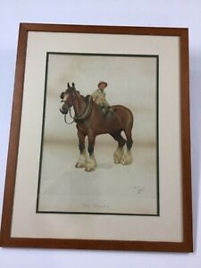 "Cecil Aldin Chromolithograph ""The Yokel"" 1902 $89.00"