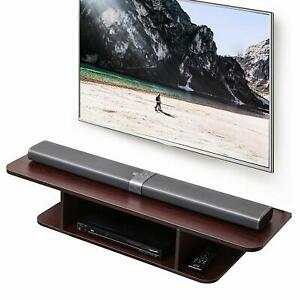 Fitueyes 2-Tier Media Console Floating TV Stand DVD Shelf Entertainment Center