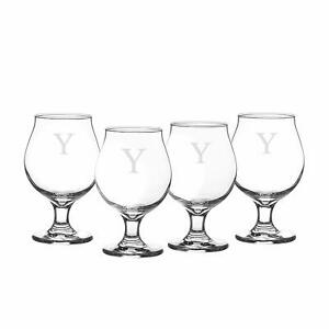 Cathy's Concepts Personalized Belgian Beer Glasses Set of 4 Letter Y