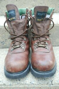 Wolverine Gore-Tex Brown Womans Work Boots 8 12 M Laces & Hooks 9