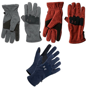 New Under Armour Men's Cold Gear Fleece Gloves Choose Size and Color MSRP $29.99