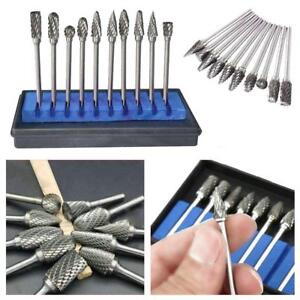 DOSEEI 10x Tungsten Steel Grinding Head Wood Rotary File Car Solid Carbide Burrs