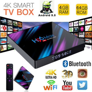 H96 MAX Smart TV BOX Android 9.0 OS 4G+64GB Quad Core Home Media 4K Home Player
