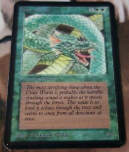 Craw Wurm Alpha Old School Green Creature Common 93 94 Mtg 1x x1 #B138