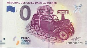 Ticket 0 Euro Memorial of Civil in the War 2019 2 No. Indifferent $6.40