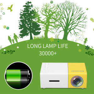 YG300 Mini Portable LEDLCD Projector HD 1080P HDMI USB Home Cinema Game For TV