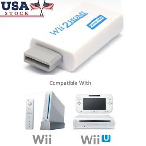 Full HD 720P 1080P Wii to HDMI Converter Adapter Upscaling 3.5mm Audio Video Out