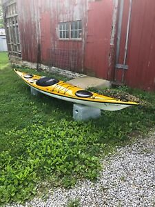 "Impex Assateuge touring kayak 17'10"". Good condition. Slightly used."