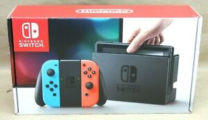 Nintendo Switch 32GB Gray Console with Neon Red and Neon Blue Joy-Cons Free Ship