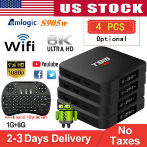 Lot T95S1 Smart TV Box S905W Quad Core WiFi 4K 3D HDMI Android 7.1 Media Player