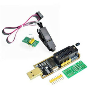 CH341A Eeprom Flash BIOS USB Programmer SOIC8 Clip On-Board for 24 25 Series US