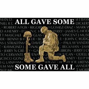 All Gave Some Some Gave All Military Flag Banner 3x5FT USA Man Cave Veteran KIA