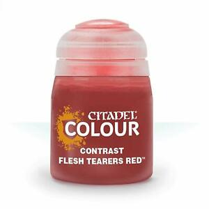 Citadel Paint Contrast: Flesh Tearers Red 18ml By Games Workshop 29-13 In stock