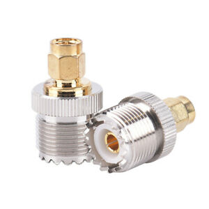 SMA Male Plug to UHF PL259 SO239 Female RF Connector Adapter Cable ^P