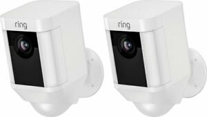 Brand New Ring Spotlight Battery-Powered Security Camera (2-Pack) - White