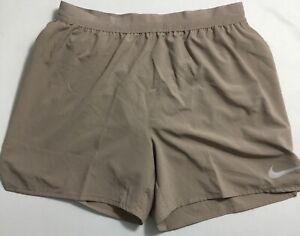 "Nike Men's Flex Stride 5"" Running Shorts AT4000 Tan 279 Size L"