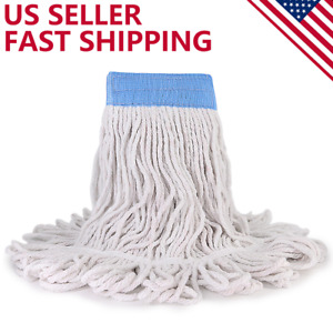 Loop End Cotton String Heavy Duty Mop Head Refills 6 inch Headband Replacement $10.59