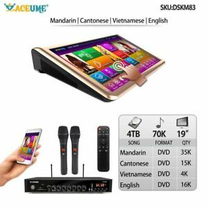 4TB HDD 70K ChineseEnglishVietnamese Songs15#x27;#x27; Touch Screen Karaoke Player $435.00