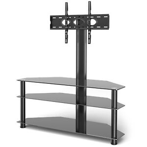 3-Tier Floor TV Stand With Swivel Mount for 32-70 inch Flat or Curved Screen TVs