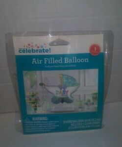 Way To Celebrate Air Filled Baby Shower Balloon-Baby Stroller shape