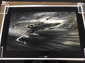Star Wars Art Jerry Vanderstelt Canvas Giclee X-Wing T-70 Tearing It Up