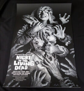 Night Of The Living Dead AP Screenprint Poster by Elvisdead - MONDO Horror Art
